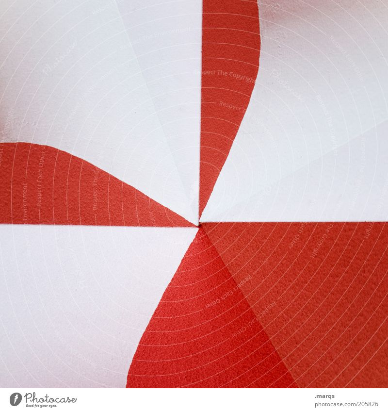 White Red Wall (building) Architecture Wall (barrier) Background picture Design Exceptional Illustration Double exposure Copy Space Center point Mural painting
