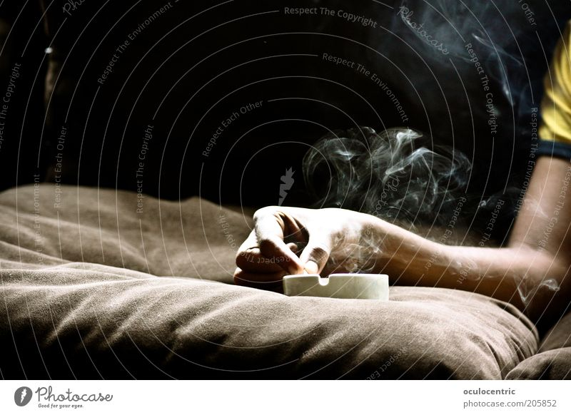 if i could sing your blues Human being Masculine Man Adults Arm 1 Old Smoking Warmth Brown Vice Addiction Death Smoke Ashtray Sofa Cushion billow Hover
