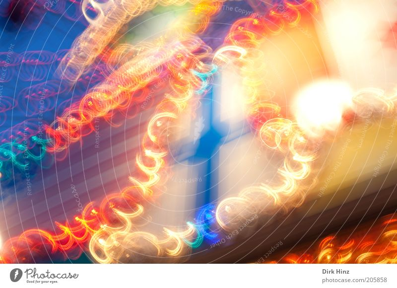 Dance of the light bulbs Party Energy industry Speed Blue Red Moody Movement Distorted Illuminate Visual spectacle Illuminating Tracer path Light track