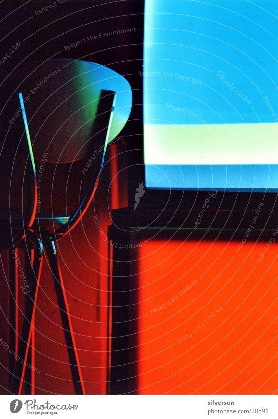 expeditious Red Screen Stool Nightclub Location Club Chair Blue Contrast X Liquid Sky