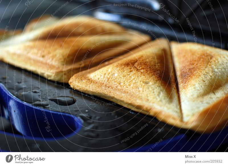 sandwich Food Dough Baked goods Bread Nutrition Breakfast Lunch Dinner Hot Delicious Sandwich Toast Toaster Electric kitchen appliance Colour photo Close-up