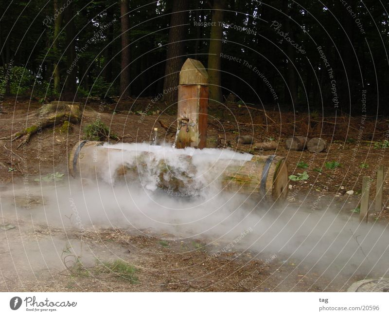 cool fountain Well Fog Moody Wood Obscure dry ice