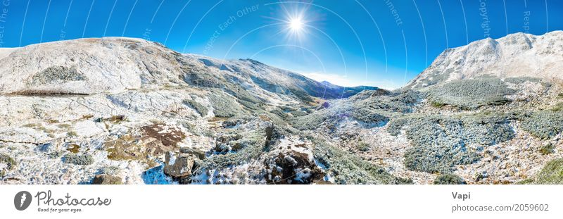 Panorama of white mountains with snow Vacation & Travel Tourism Adventure Winter Snow Winter vacation Mountain Hiking Environment Nature Landscape Sky
