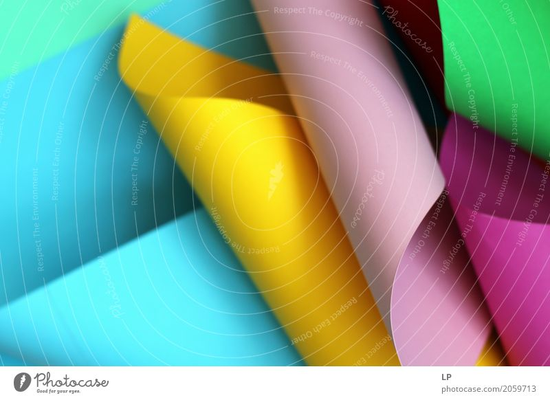curled coloured paper Lifestyle Design Wellness Harmonious Contentment Leisure and hobbies Playing Living or residing Redecorate Decoration Wallpaper