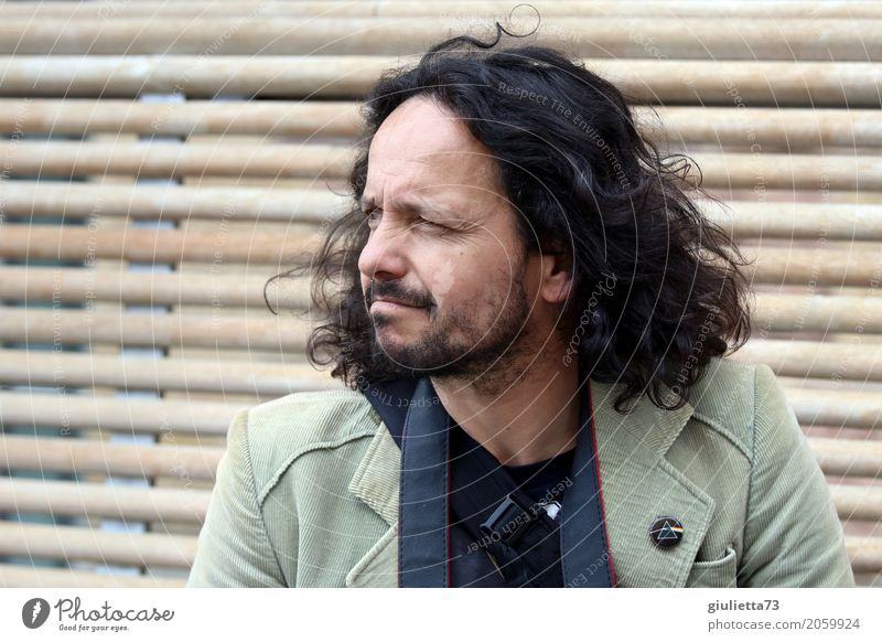 AST 10. Where to now? Tourism City trip Masculine Man Adults Life Human being 45 - 60 years Black-haired Brunette Long-haired Curl Facial hair Moustache Beard
