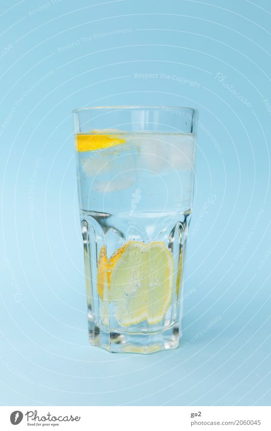 refreshment Food Lemon Beverage Drinking Cold drink Drinking water Lemonade Glass Healthy Healthy Eating Wellness Life Esthetic Fresh Delicious Blue Yellow Pure