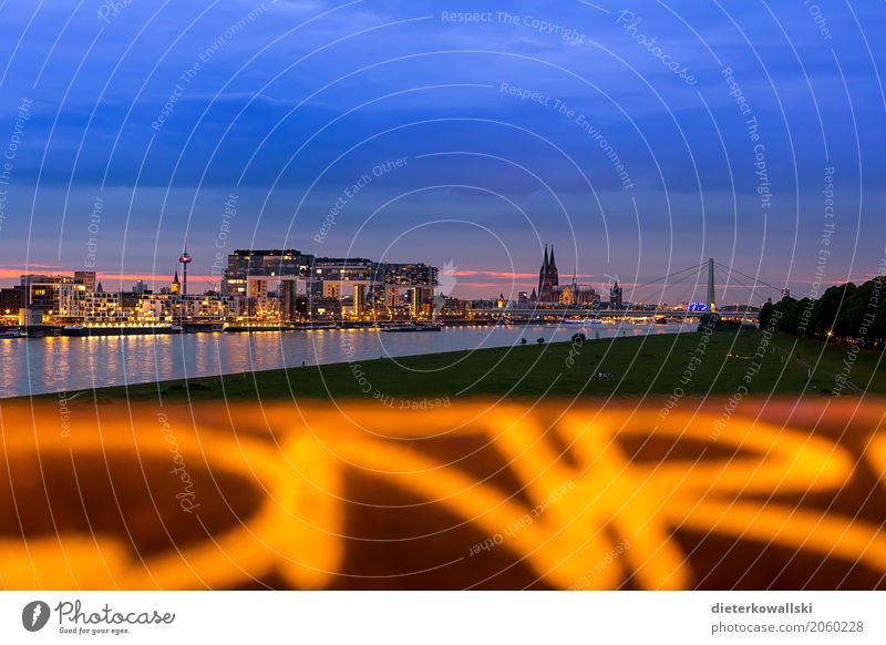Skyline Cologne Landscape Town Tourist Attraction Landmark Monument Dome Cologne Cathedral Rhine River Navigation Watercraft Television tower City