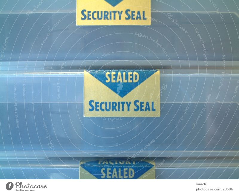 Sealed Safety Tape cassette seal Label Protection
