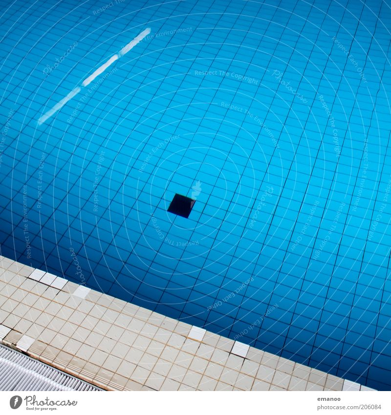 Water Old Blue Calm Relaxation Line Bright Wet Wellness Swimming pool Tile Deep Sports Drainage Grid Stagnating