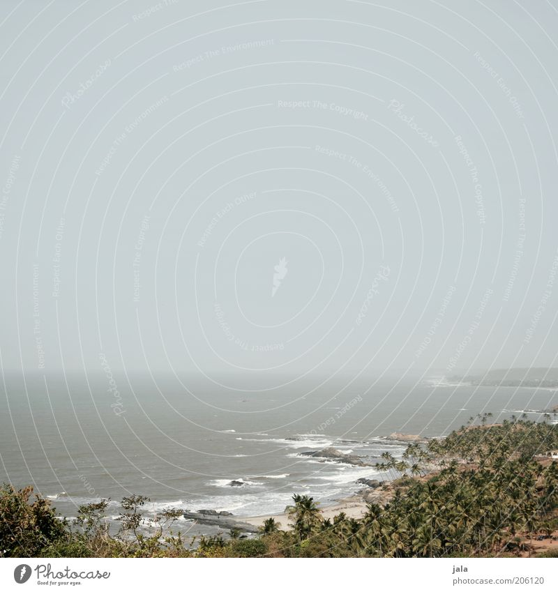 desert.sea.sky Far-off places Freedom Summer Summer vacation Nature Landscape Water Sky Waves Coast Ocean Asia India Goa Infinity Colour photo Subdued colour