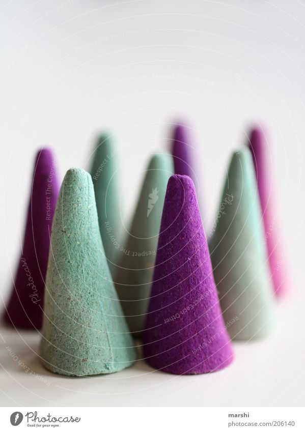 HatParade Style Violet Point Formation Joss sticks Conical Turquoise Blur Things Abstract Colour photo Interior shot Fragrance Many Decoration