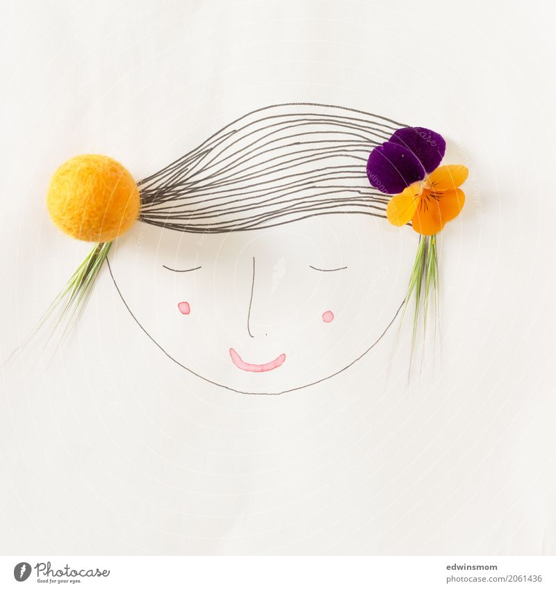 Summer in the (h)air Leisure and hobbies Handicraft Draw Feminine Nature Plant Blossom Horned pansy Accessory Paper Decoration Sleep Dream Simple Happy Bright