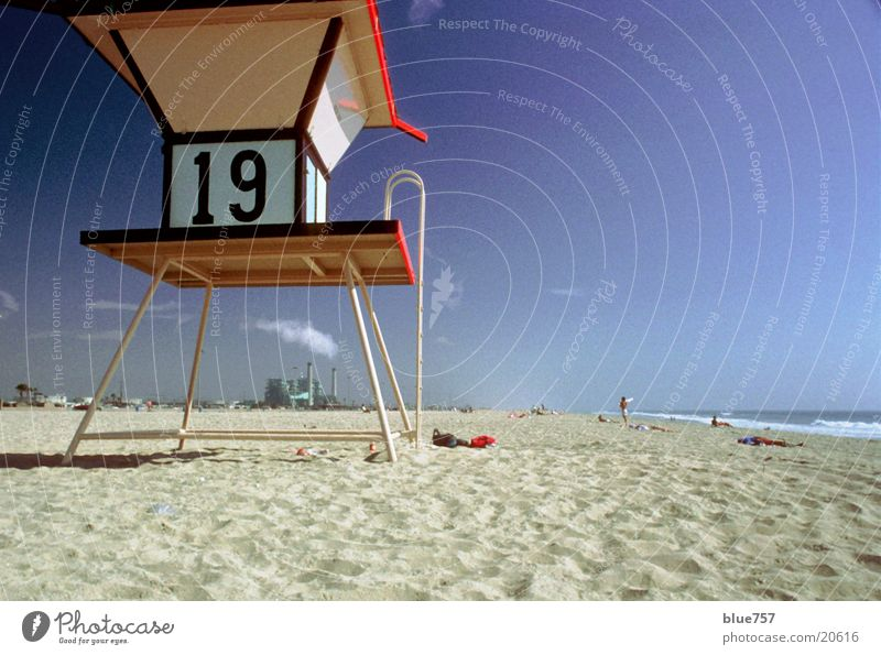 Water Sky Blue Beach Sand Architecture Industrial Photography Digits and numbers California 19