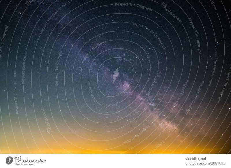 Milky Way Science & Research Astronautics Astronomy Environment Nature Sky Cloudless sky Night sky Stars Summer Milky way Galaxy Bad Dürkheim Rahnfels
