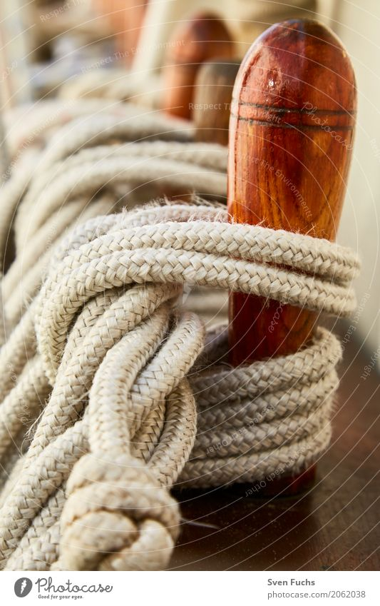 Ropes and ropes Harbour Navigation Sailing ship Watercraft Knot Maritime Wilhlemshaven Friesland district East Frisland Hawser leash Deck Steering wheel Oar