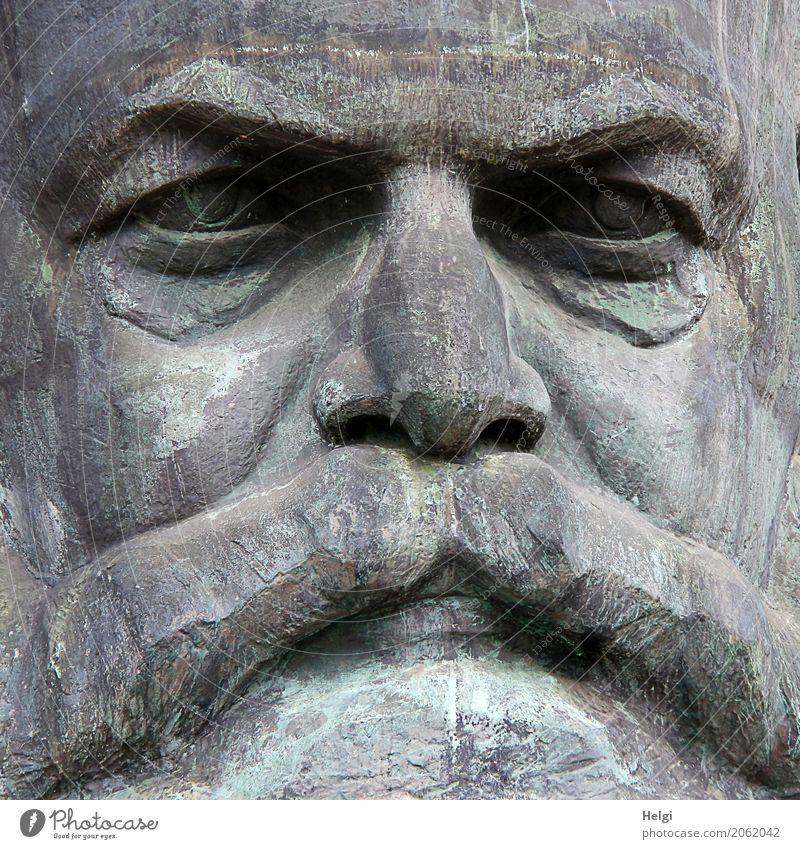 Old Dark Art Gray Authentic Culture Uniqueness Manmade structures Tourist Attraction Monument Politics and state Chemnitz Philosopher Socialism Communism