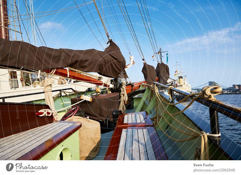 On board a sailing ship Rope Harbour Navigation Sailing ship Watercraft Knot Maritime Wilhlemshaven Friesland district East Frisland Hawser leash Deck