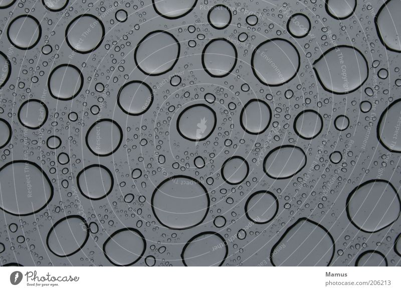 Water Beautiful Black Gray Rain Glass Drops of water Wet Esthetic Round Near Simple Fluid Elements Repeating