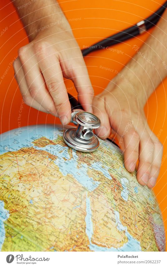 Hand Healthy Art Earth Moody Esthetic Europe Climate Listening Doctor Environmental protection Globe Work of art Climate change Map of the World World heritage