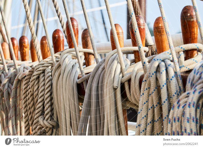 Ropes and rope Harbour Navigation Sailing ship Watercraft Knot Maritime Wilhlemshaven Friesland district East Frisland Hawser leash Deck Steering wheel Oar