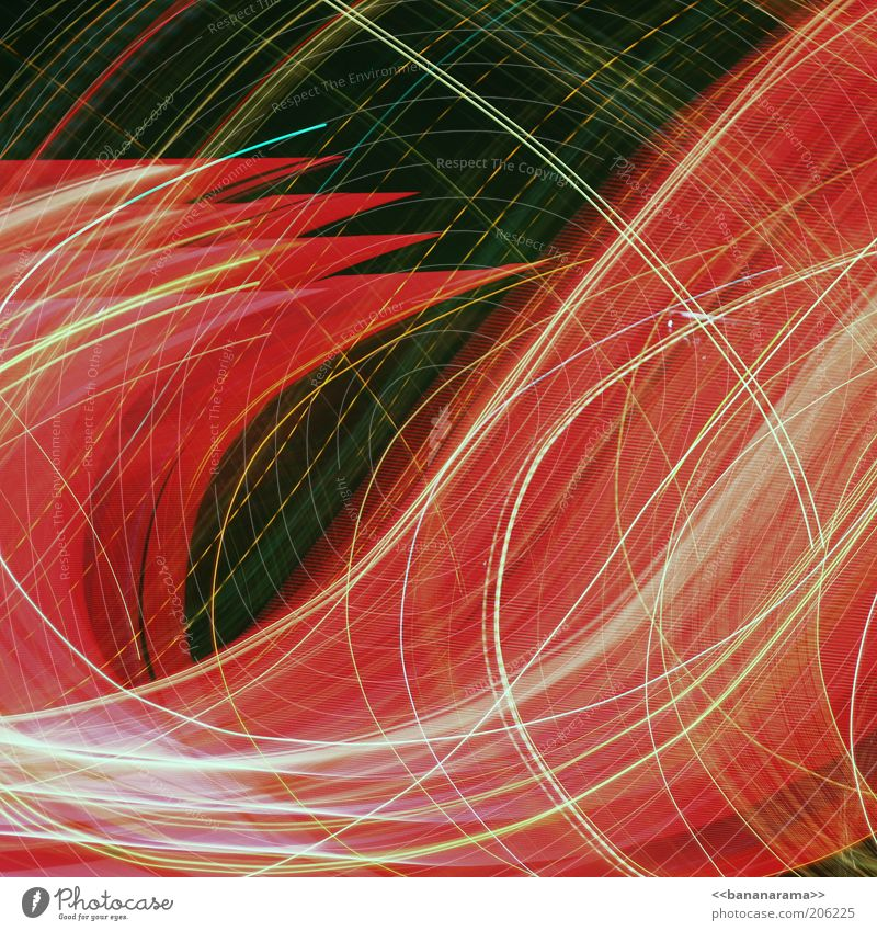 Red Line Bright Energy Modern Pattern Illuminate Dynamics Science & Research Curve Chaos Long exposure Muddled Exposure Visual spectacle