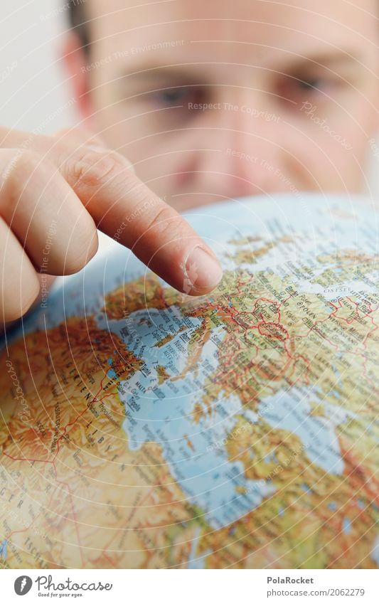 Vacation & Travel Art Earth Esthetic Europe Wanderlust Indicate Globe Work of art Planet Continents Forefinger Vacation photo Vacation mood Vacation destination