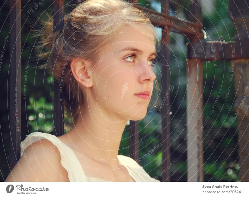 """""""I wish it stayed the way it is."""" Elegant Style Beautiful Relaxation Feminine Young woman Youth (Young adults) Eyes 1 Human being Nature Gate"""