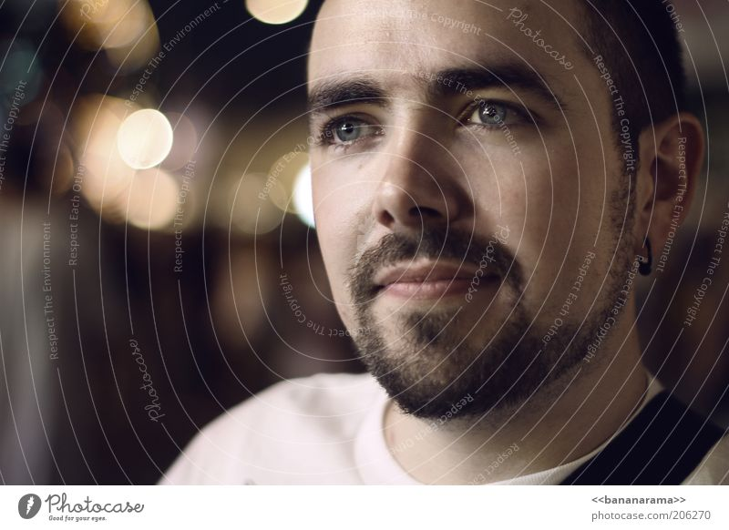 Human being Man Youth (Young adults) Face Calm Eyes Dream Think Mouth Contentment Moody Brown Adults Masculine Nose Hair