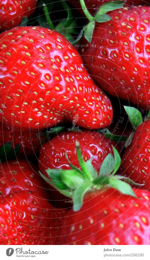 Green Plant Red Nutrition Healthy Food Fruit Fresh Sweet Delicious Strawberry Juicy Alluring Fruity Complementary colour