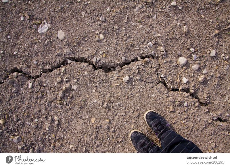 Don't take another step! Earth Earthy Ground Stone Dry Drought Crack & Rip & Tear Feet Brown Black Footwear girls' shoes High heels Day Exterior shot