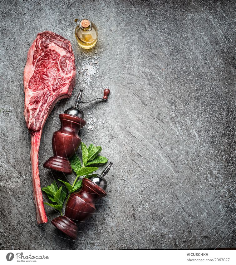 Tomahawk beef steak for real men Food Meat Nutrition Dinner Banquet Picnic Organic produce Style Design Table Kitchen Restaurant Barbecue (apparatus)