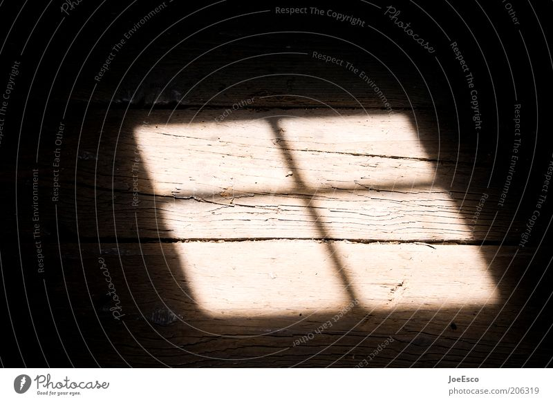 attic find... Window Threat Dirty Dark Beautiful Warmth Geometry Window transom and mullion Floorboards Hallway Wooden floor Skylight Line Attic Colour photo