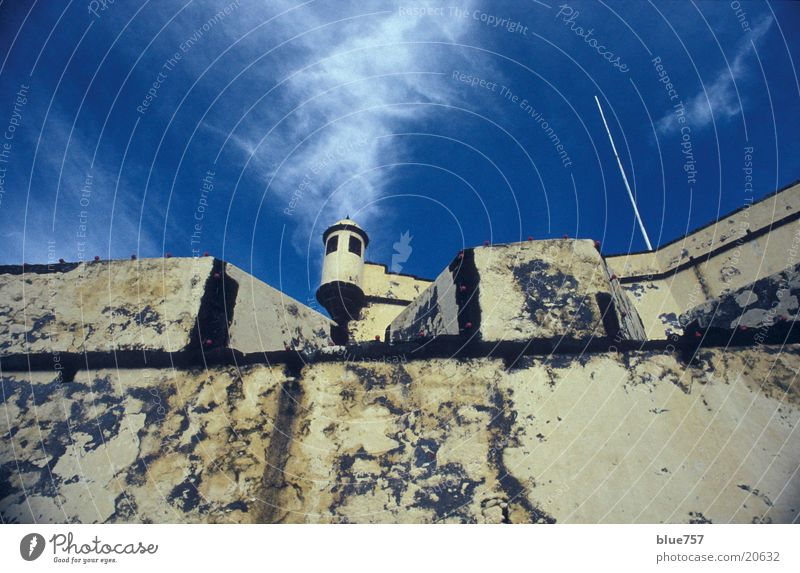 Sky White Blue Clouds Wall (barrier) Architecture Tower Madeira