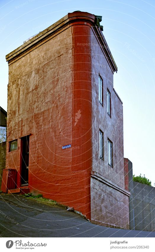 Red House (Residential Structure) Building Architecture Exceptional Manmade structures Denmark Sharp-edged Detached house Føroyar Corner building Tórshavn