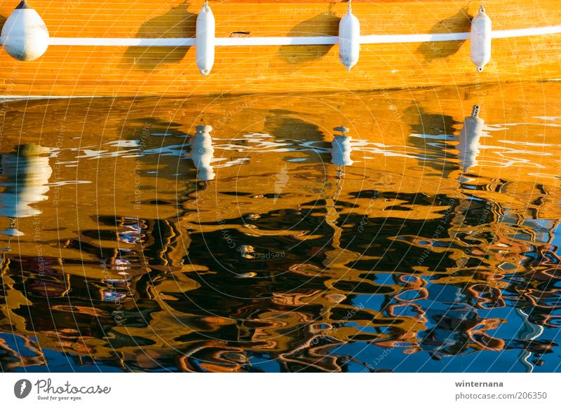 Mirrored Water Summer Beautiful weather Coast North Sea Boating trip Sail Free Uniqueness Sustainability Wet Clean Blue Brown Multicoloured Yellow White Happy