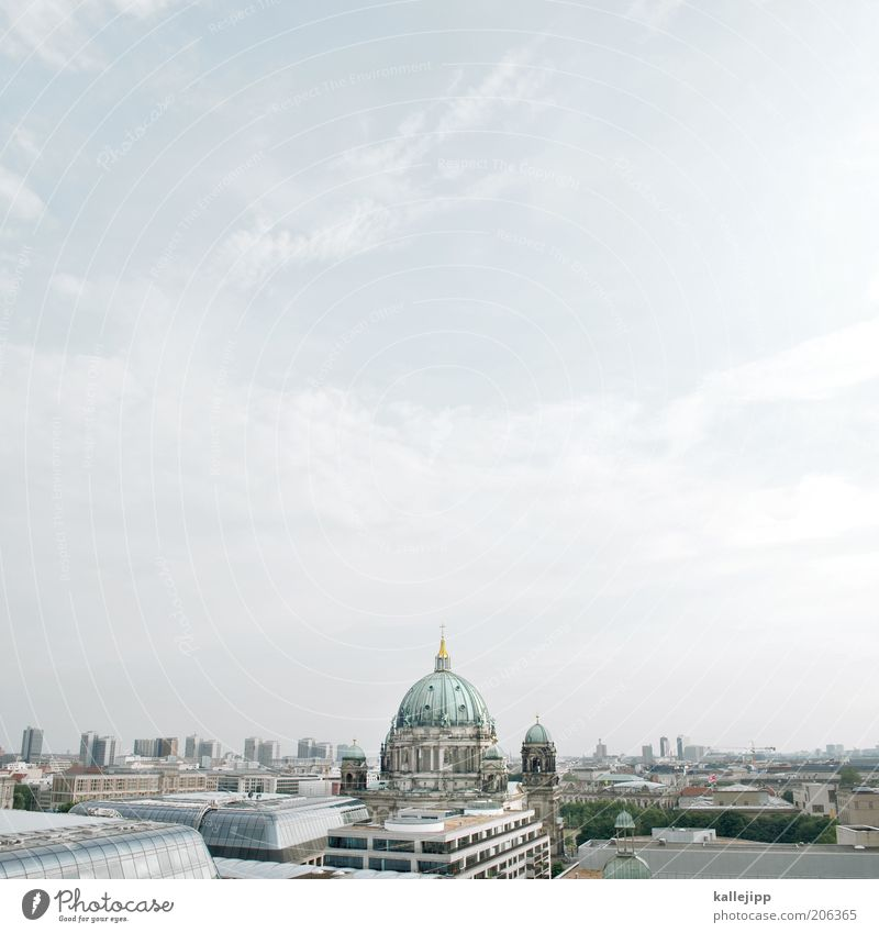 Sky Blue Summer Vacation & Travel House (Residential Structure) Berlin Art High-rise Church Tourism Roof Culture Skyline Landmark Beautiful weather Dome