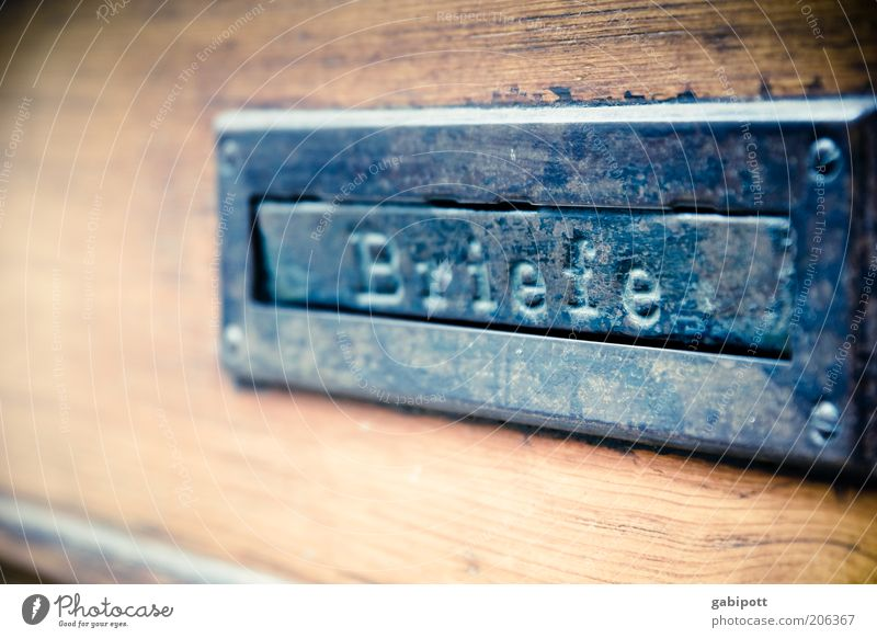 Old Wood Contact Metal Communicate Steel Symbols and metaphors Mail Mailbox Slot Interject Means of communication