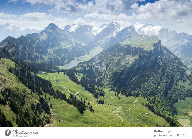 towering Swiss mountains Vacation & Travel Tourism Trip Far-off places Freedom Summer Mountain Hiking Nature Landscape Spring Alps Alpstein Exceptional