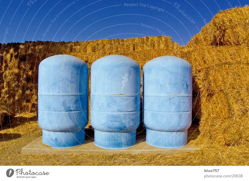 Three blue containers Containers and vessels Straw Yellow Obscure Sky Blue