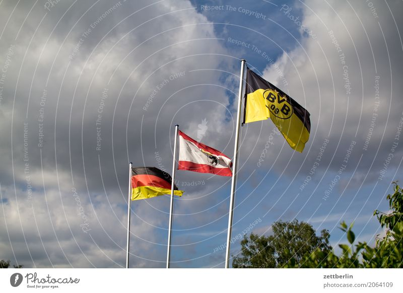 Three flags (randomly generated) Flag Wind Blow Judder Gale Flagpole Nationalities and ethnicity National team Germany German Flag Patriotism Civic pride Berlin