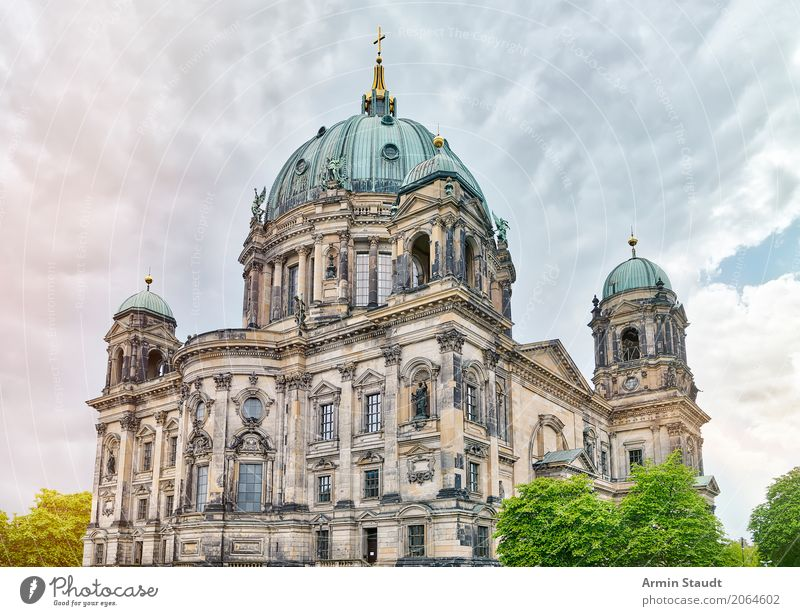 Nature Plant Summer Town Tree Clouds House (Residential Structure) Religion and faith Environment Spring Berlin Tourism Moody Facade Park Church