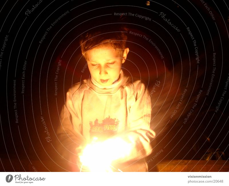 Child Face Lighting Room Blaze Event Awareness