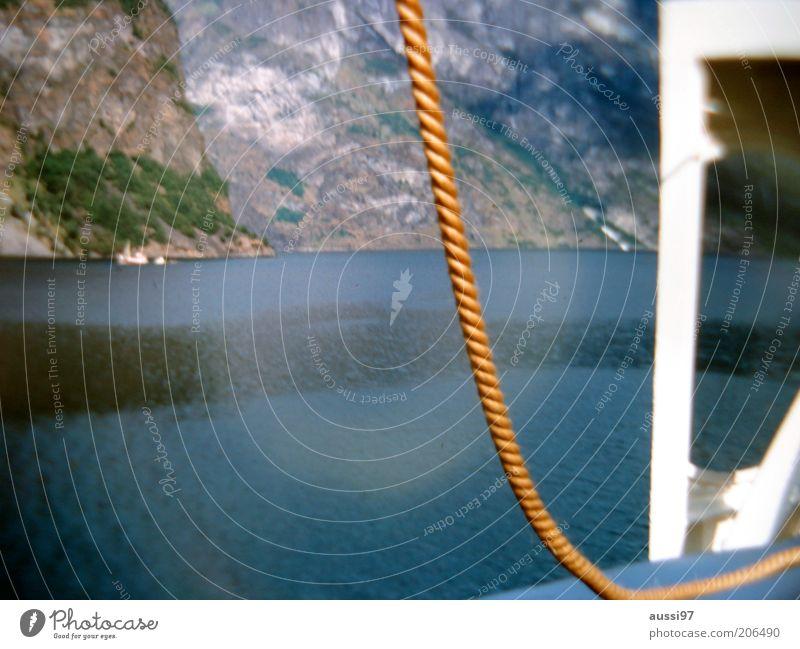 Ocean Mountain Watercraft Coast Rope Rock Sailboat Refraction Deck Surface of water Pool of light Sailing trip