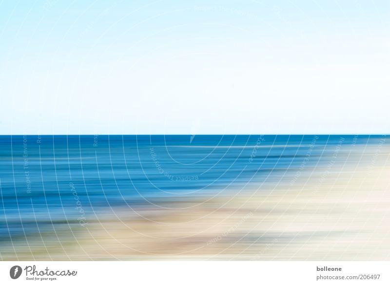 Nature Water Sky Blue Summer Beach Vacation & Travel Loneliness Movement Freedom Landscape Waves Coast Environment Horizon Esthetic