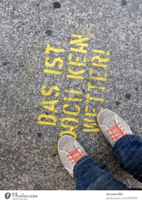 Human being Street Style Stone Feet Footwear Graffiti Signs and labeling Jeans Stand Characters Authentic Exceptional