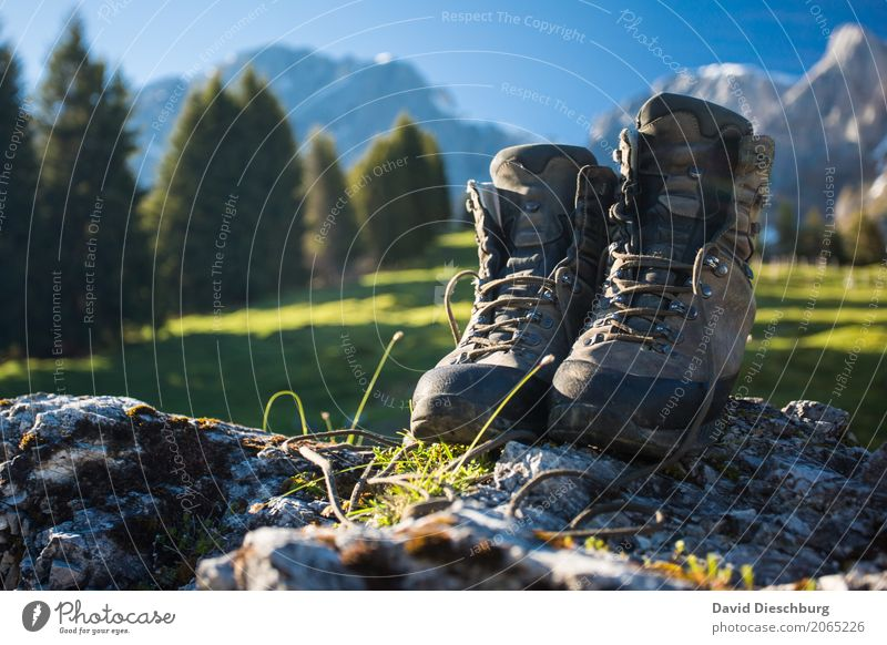As far as the feet go Vacation & Travel Tourism Adventure Far-off places Freedom Expedition Mountain Hiking Nature Landscape Cloudless sky Spring Summer