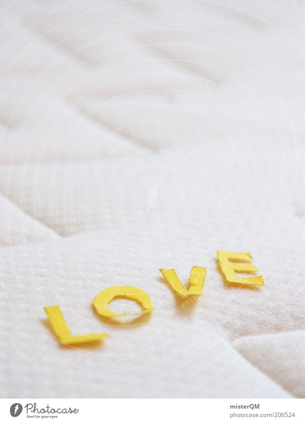 Love. Declaration of love Love life Display of affection With love Loving relationship Bed Emotions Infatuation Mattress White Spring fever Letters (alphabet)