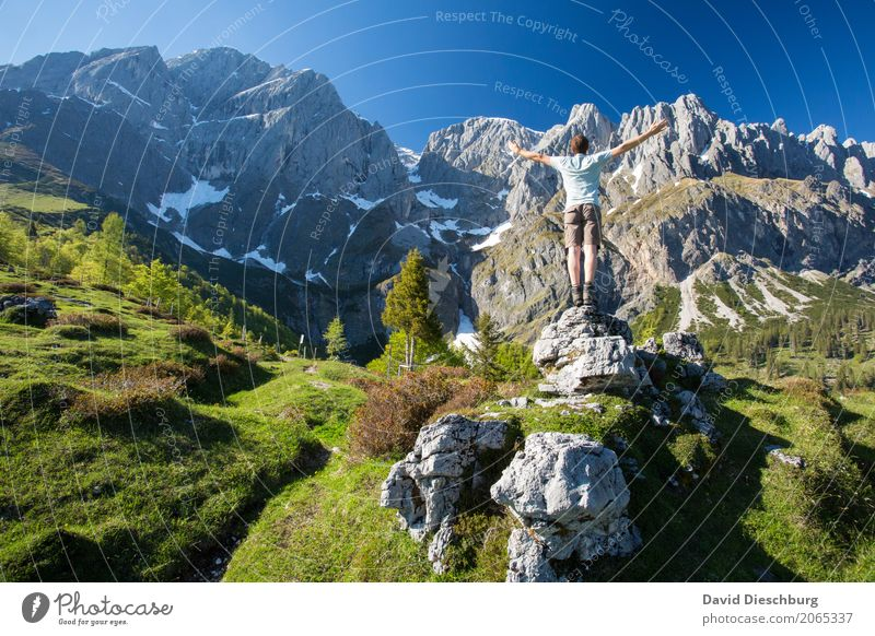 Human being Vacation & Travel Youth (Young adults) Plant Summer Landscape Relaxation Far-off places 18 - 30 years Mountain Adults Life Spring Freedom Rock
