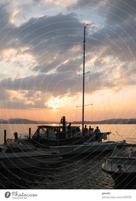 sailing monday Sailing ship Regatta Lake Lucerne Sunset Watercraft Evening sun