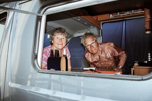 Seniors in their Camping Bus Leisure and hobbies Vacation & Travel Human being Masculine Feminine Female senior Woman Male senior Man Senior citizen 2